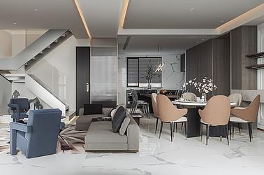 白蒲九龙溪畔-复式大平层- 200平米装修设计