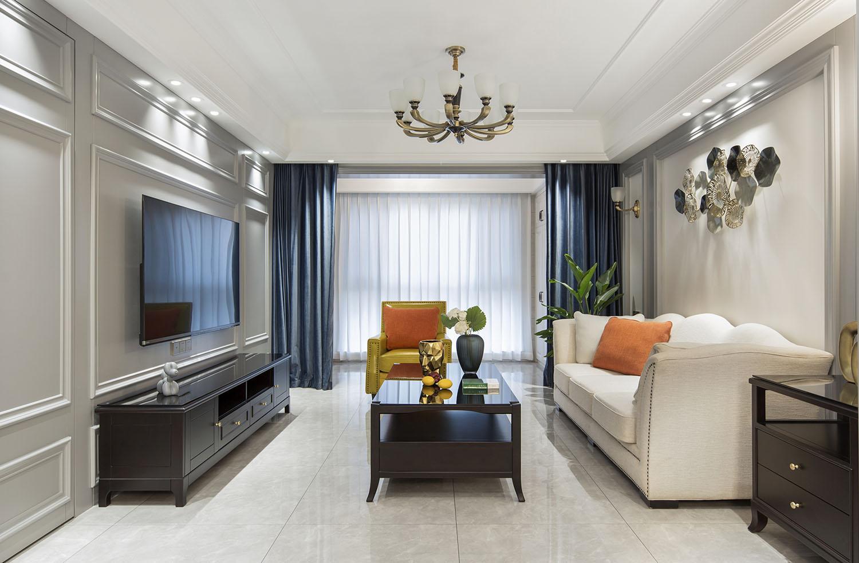 中梁望府-三室两厅两卫-美式风格-135平米