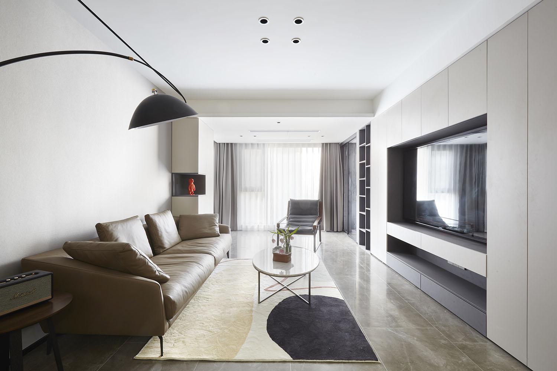 华强城 110平米 三室两厅装修设计 现代简约风格