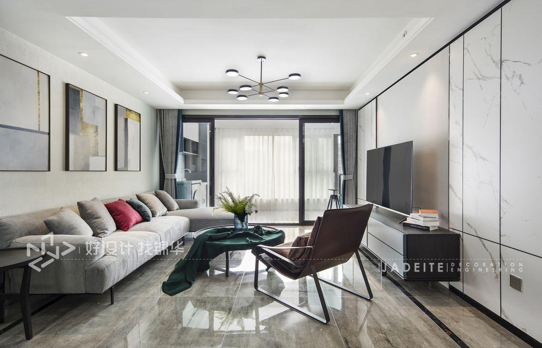 现代风格 远创樾府 130平米 三室两厅 装修-两室两厅-现代简约