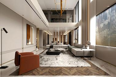 中南熙悦  648平米  别墅装修设计 现代简约装饰