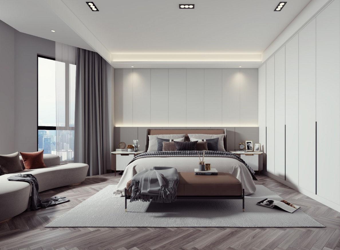 万濠华府 280平米  四室四卫两厅 现代风格