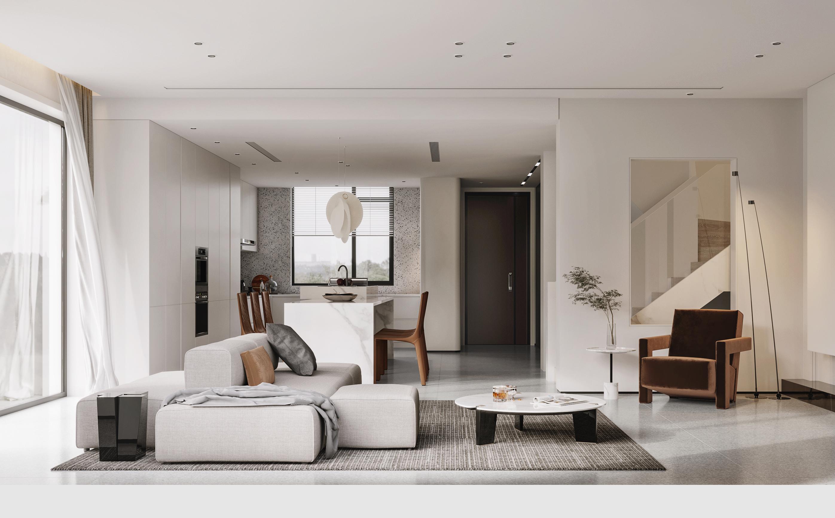 景瑞御府 联排别墅 极简风格 180平米装修设计