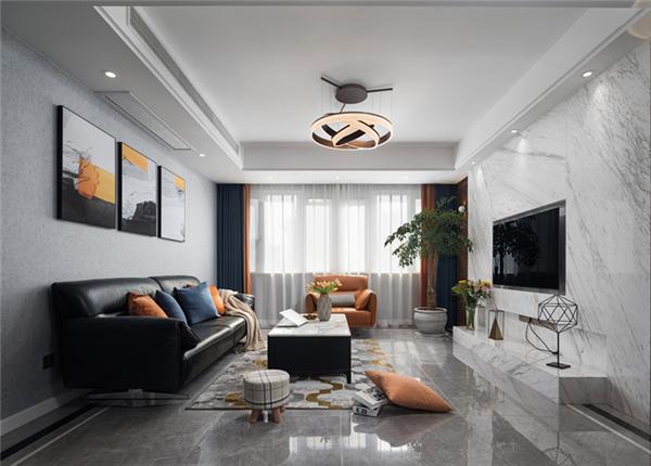 现代简约- 三室两厅-136平 装修实景效果图