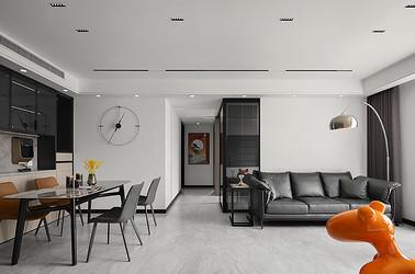 雨润中央广场 125平米  三室两厅 现代极简装修设计