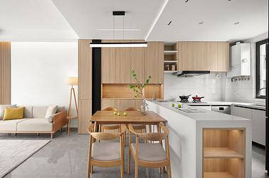 中南熙悦  206平米 大户型别墅装修设计  简约北欧风格