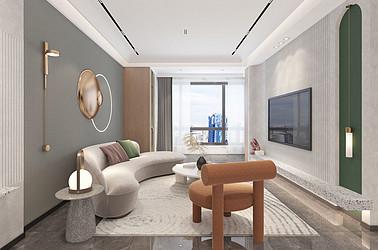 现代风格 香江翡翠观澜  三室两厅113平米 装修设计