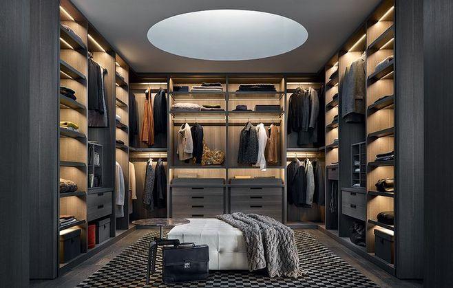 600平米别墅案例的超大衣帽间设计,来看看那!