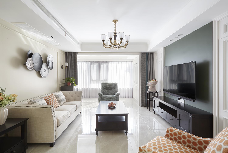 九里香堤  140平米  三室两厅一厨  美式风格装修设计案例