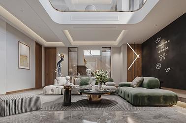 惠文嘉园  别墅装修设计 现代轻奢风格