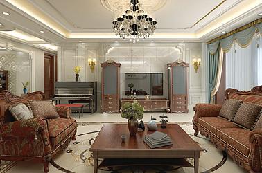 珠江道12号 五室两厅  欧式风格 270平米装修设计
