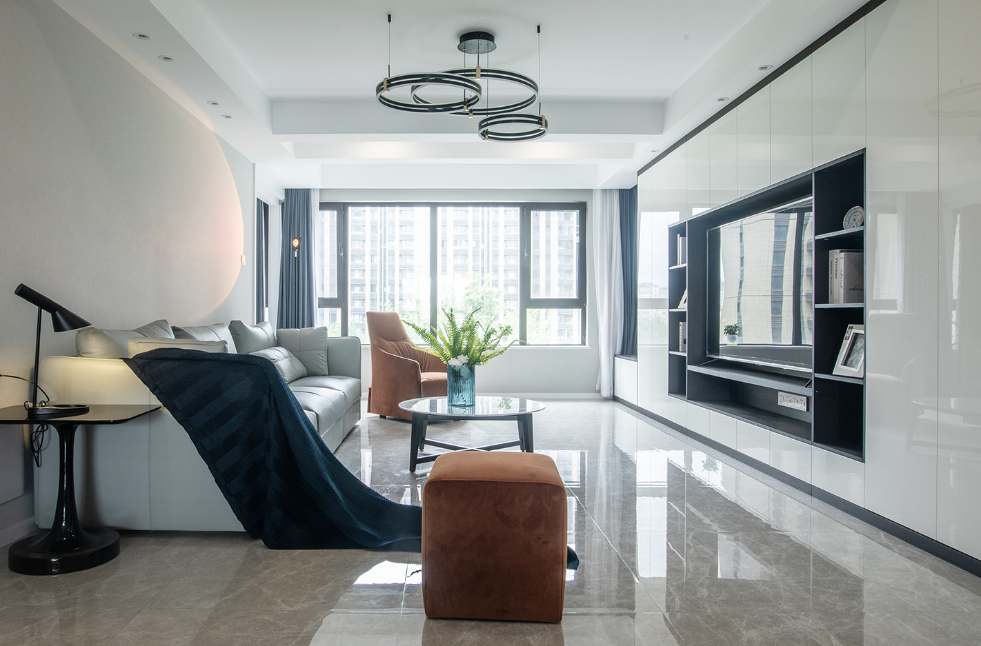 苏建名都城 140平米  三室两厅一卫  现代简约风格