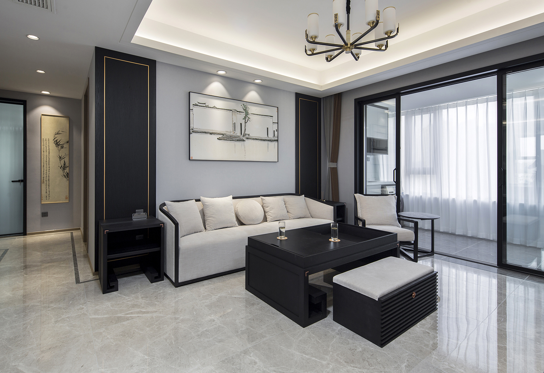 珑府  114㎡ 三室两厅一卫  新中式风格 装修设计