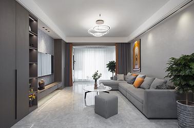 中海碧林湾 130平米  现代简约 三室两厅 装修设计