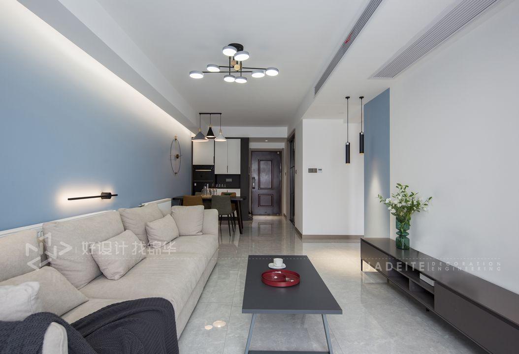 现代简约-保利香槟国际115㎡- 两室一厅装修案例装修-两室一厅-现代简约