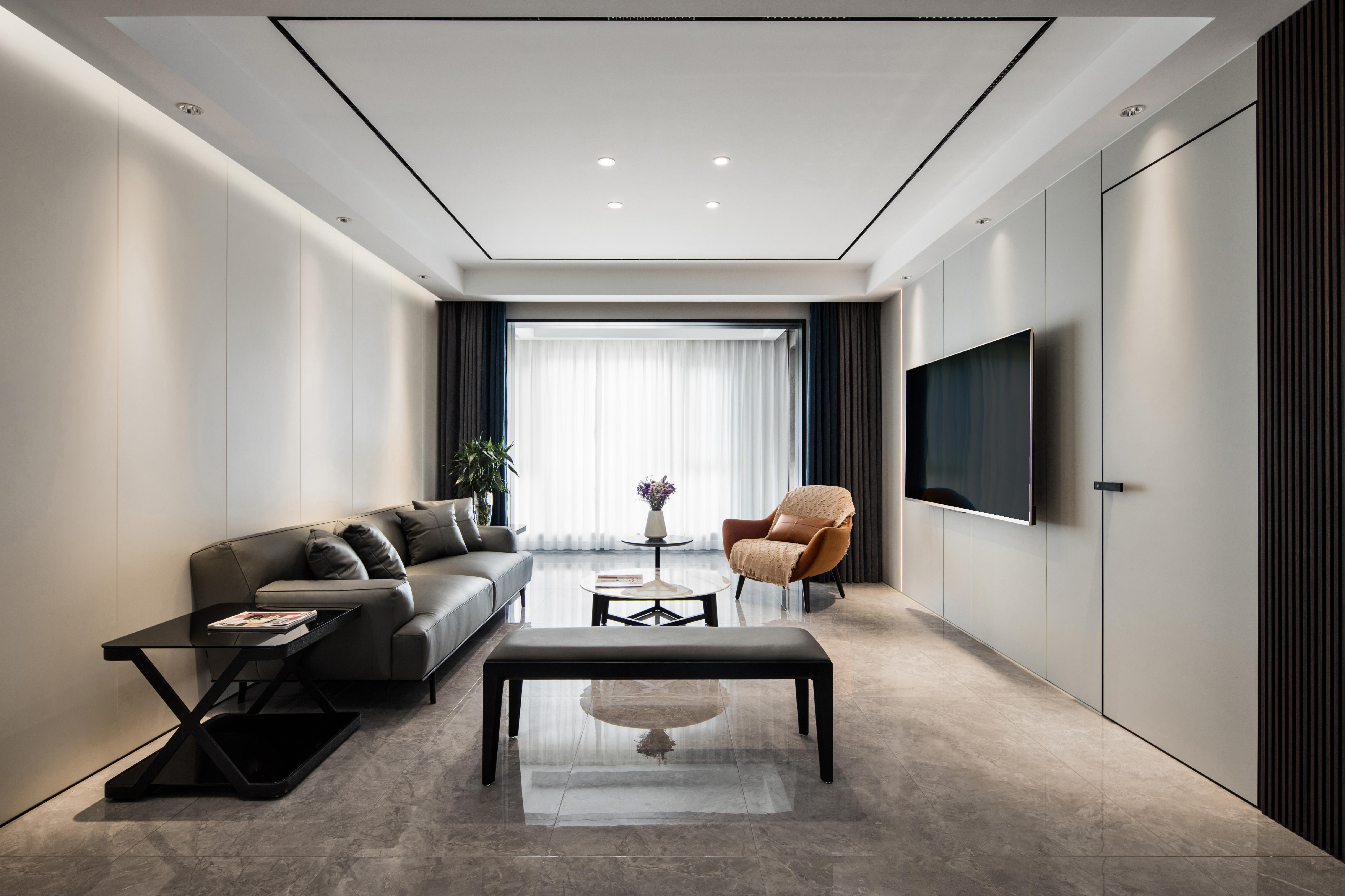 现代简约-上德苑140㎡- 四室两厅装修案例