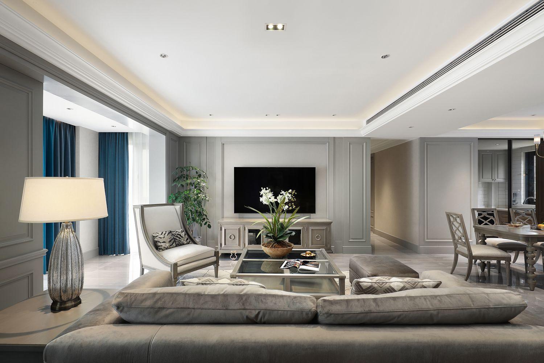 现代美式-中梁望府160㎡-四室两厅装修案例