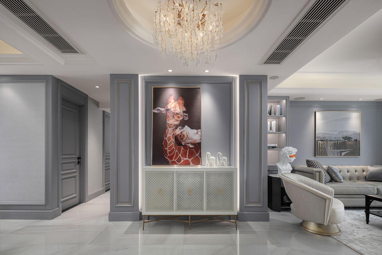 现代美式-莱茵河畔145㎡-三室两厅装修案例