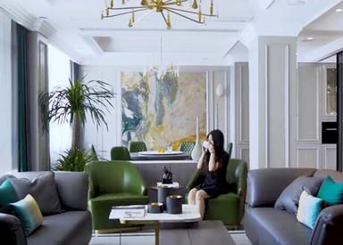 七夕钱送给女儿的婚房,好有爱,好羡慕,南通万濠山庄400平米 别墅设计案例