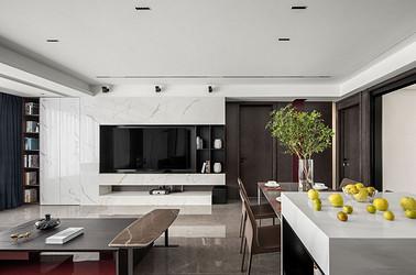 现代简约-文汇公馆155㎡- 三室两厅装修案例