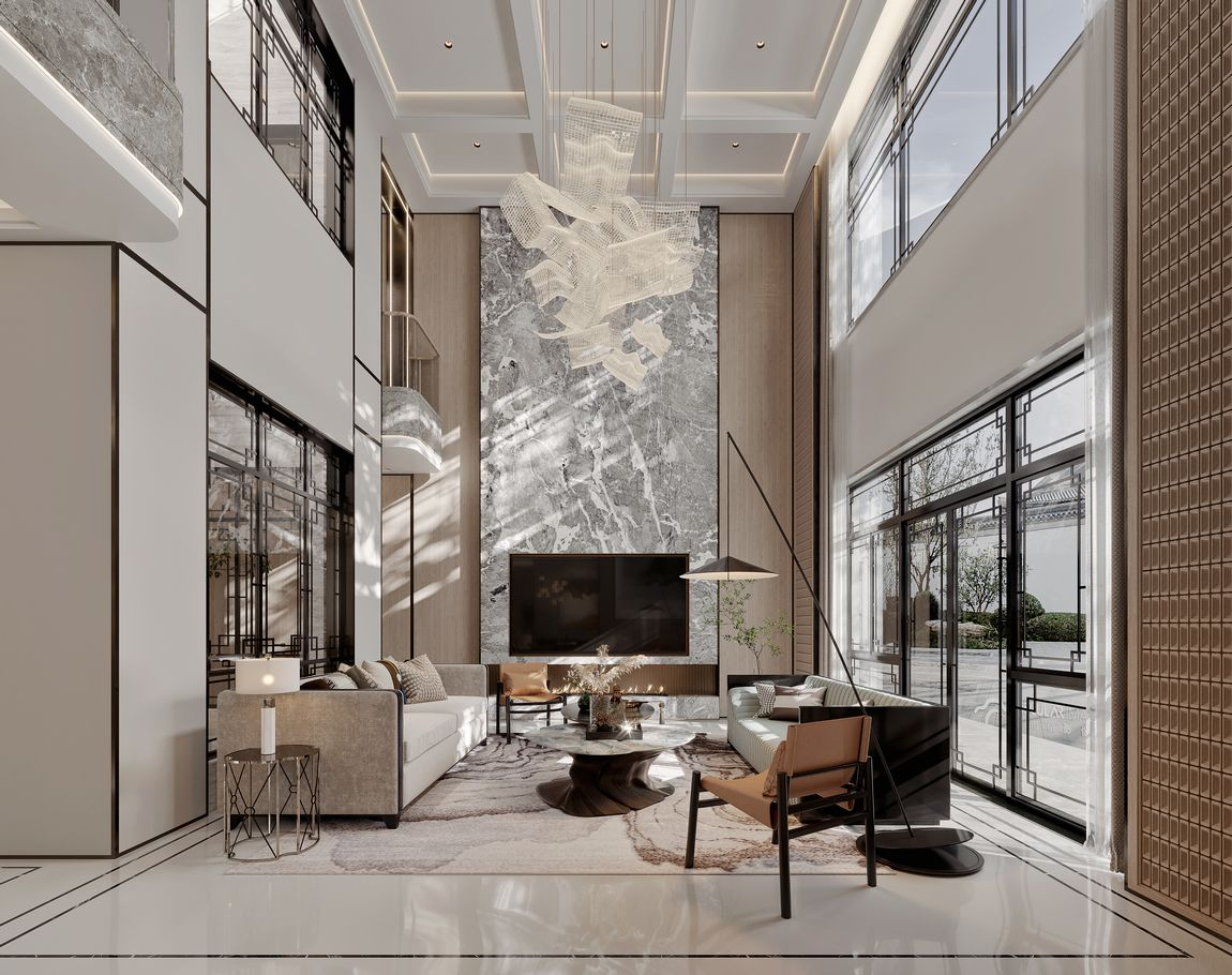新中式-九里兰亭800㎡-独栋别墅