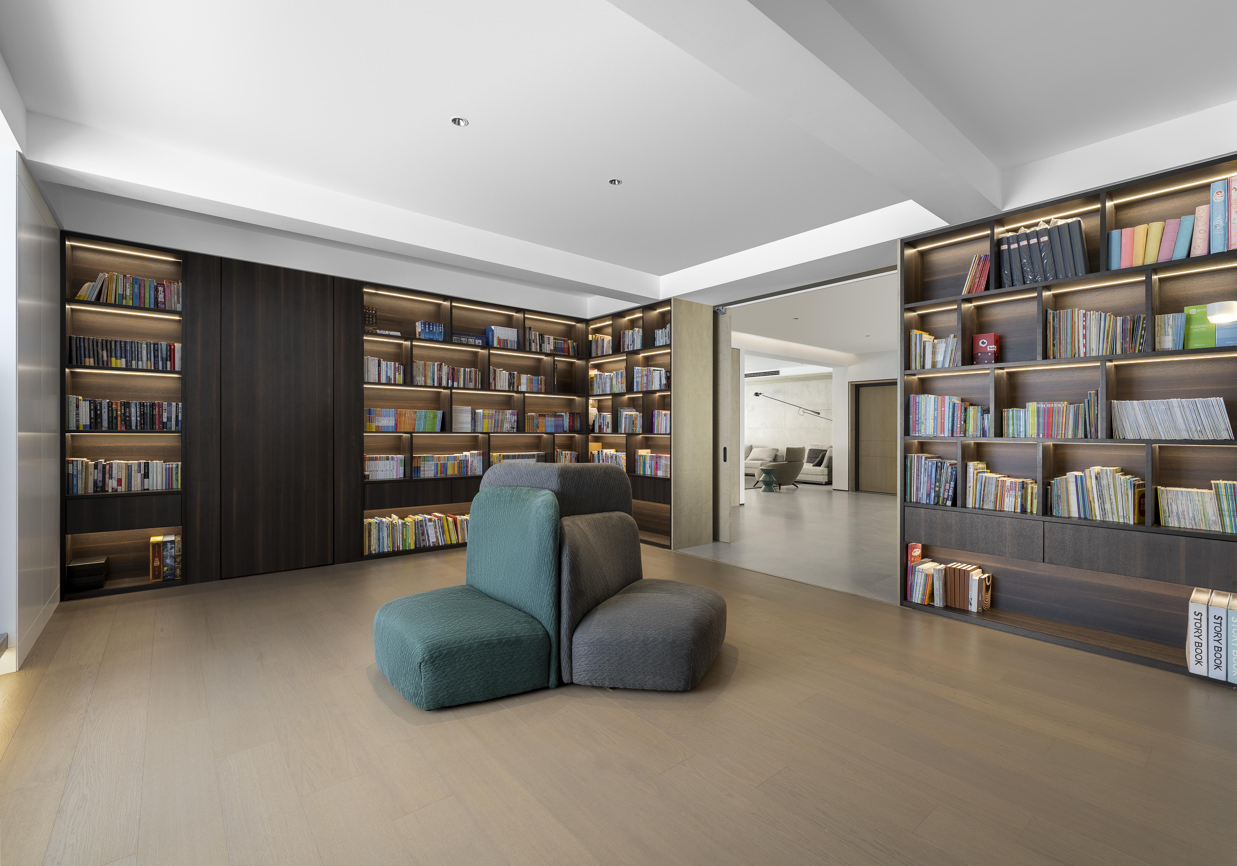 现代简约-南山湖340㎡- 三室两厅装修案例