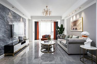 现代美式-中南世纪花城170㎡-三室两厅装修案例