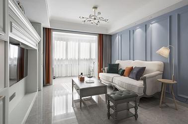简欧-保利香槟国际105㎡- 三室两厅装修案例