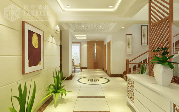 新中式的魅力装修-别墅-新中式