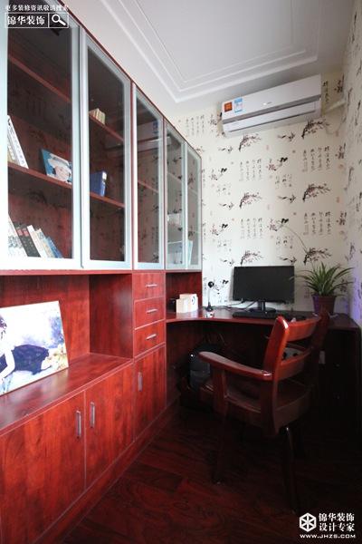 高雅文化品味—明珠新苑装修-三室两厅-新中式