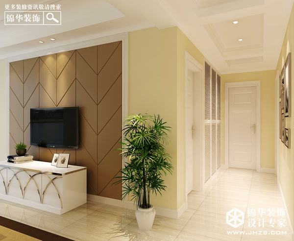 风情暖湖-恒景国际装修-两室一厅-现代简约
