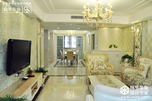 浪漫小屋-东方明珠装修-三室两厅-简欧