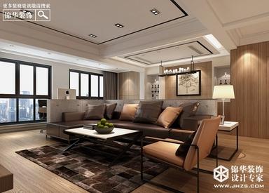 鹏欣丽都-现代风格-三室两厅两卫-120平米-半包造价8.2万
