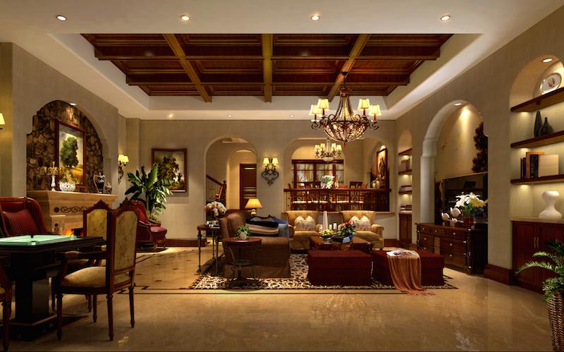 自建别墅-美式乡村-别墅-300平米-半包造价36万