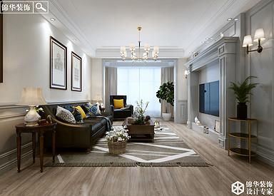 美式风格-凤城府-四室两厅两卫-210平米-半包造价20万