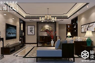 恒景国际花园-新中式风格-四室两厅-210平-全案造价60万