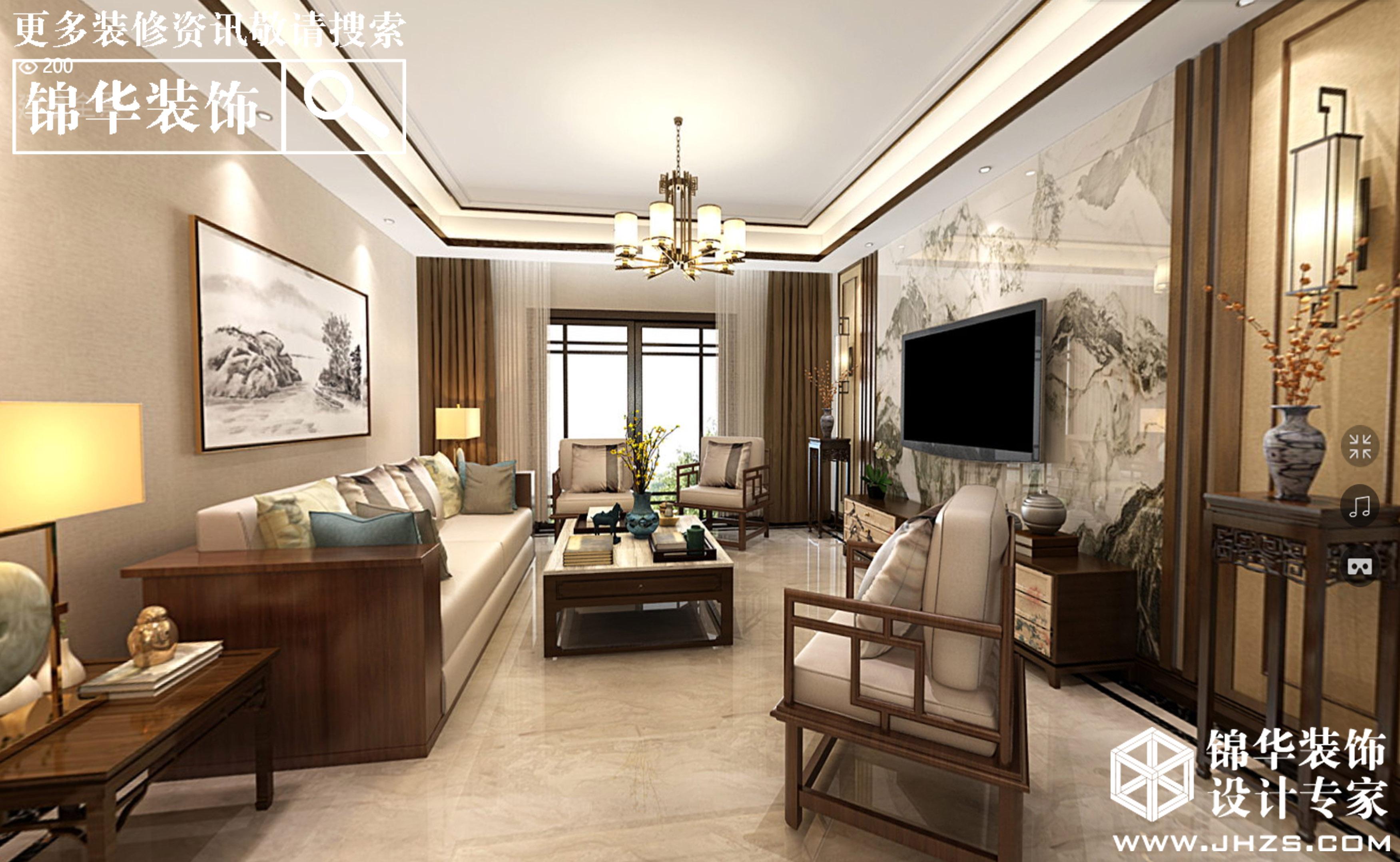 阳光国宾一号-新中式风格-190平大平层-全案造价55万