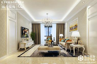 美好上郡-简欧风格-三室两厅两卫-165平米-全案造价34.5万