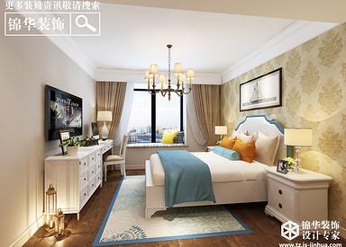 简欧风格-盛和花园-两室两厅一卫-89平米-全案造价15万