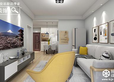天韵景园-北欧风格-两室两厅一卫 78平 全案14.6万