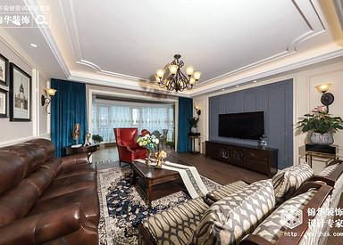 美式风格-碧桂园-四室两厅-195平-装修实景效果图