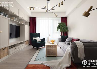 北欧-世纪家园-三室两厅-100平米-实景案例