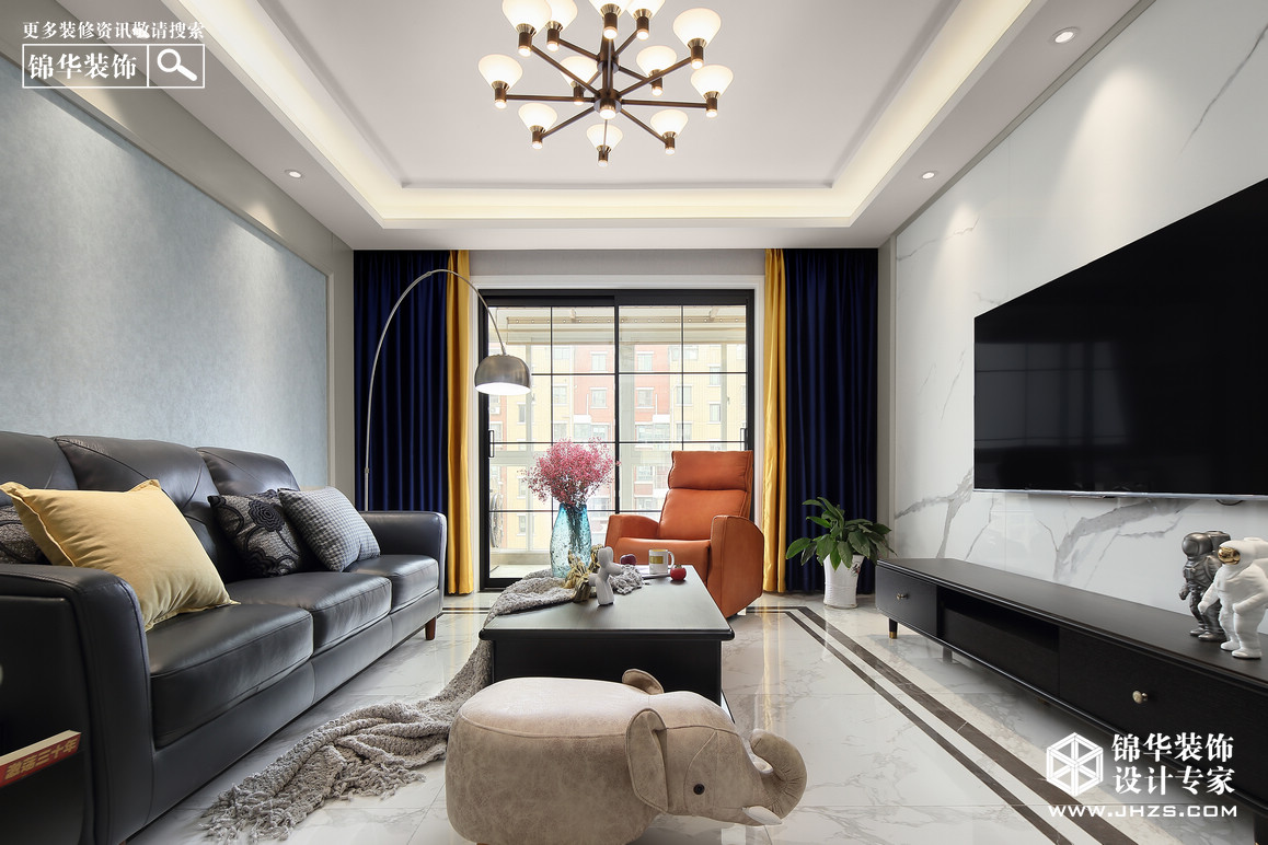 现代简约-四室两厅-120平米-实景案例