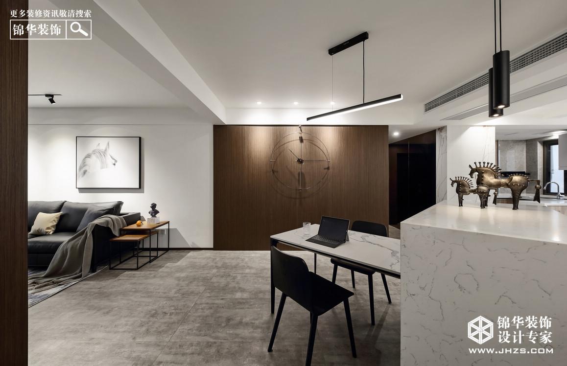 现代简约风格-三室两厅-122平米-实景案例