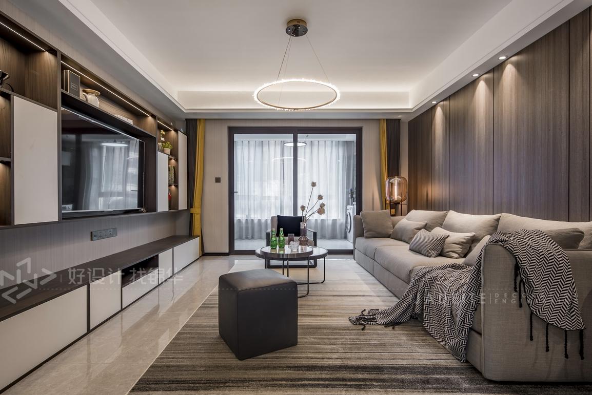现代简约风格-三室两厅-118平米-实景案例