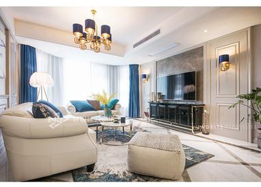 美式风格-四室两厅-180平-实景案例