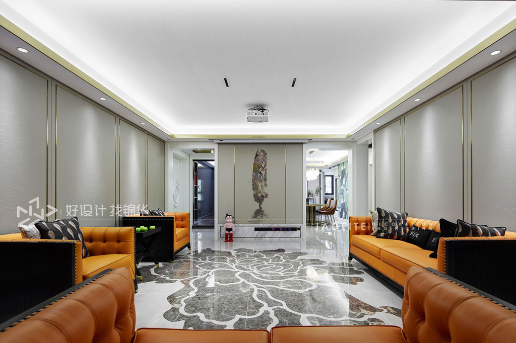 现代轻奢-三室两厅-180平米-实景案例