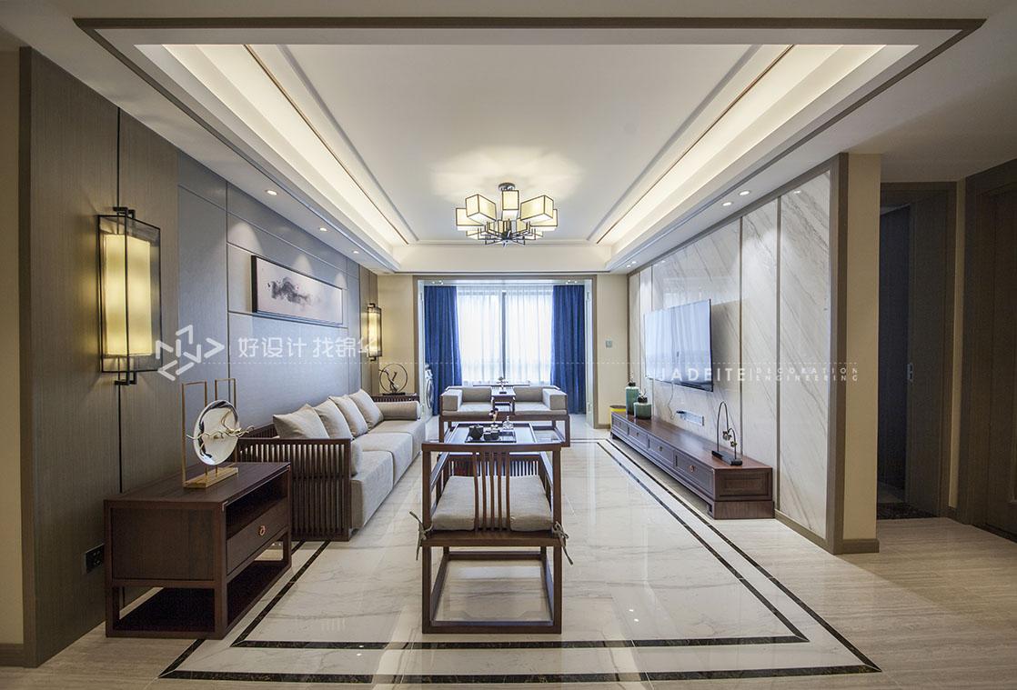 新中式-三室两厅-155平米-实景案例