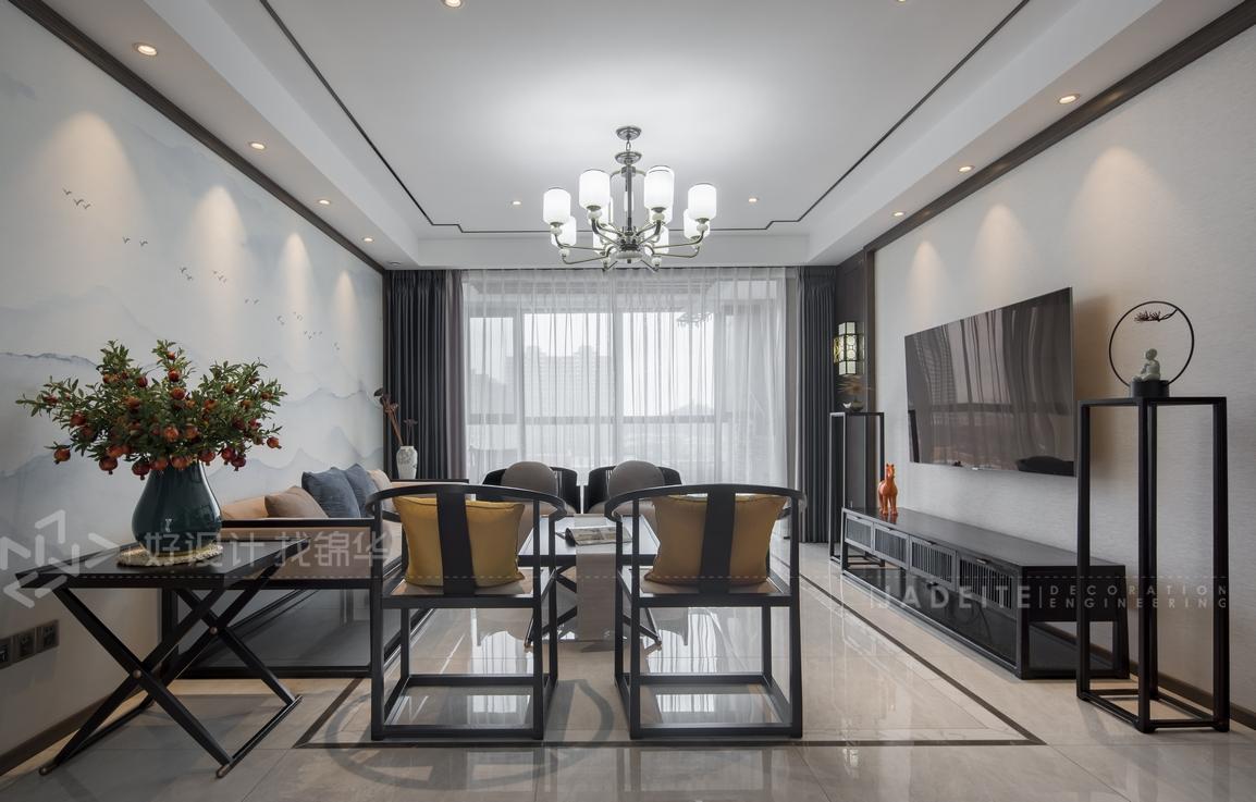 新中式-三室两厅-135平米-实景案例