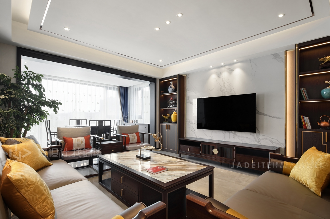 新中式-三室两厅-160平米-实景案例